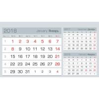 Три в одном домики МИНИ серебро Календарные блоки