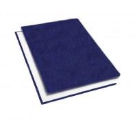 """Обложки металбинд твердые А4 304х212 мм, """"кожа"""" синие (10 пар)"""