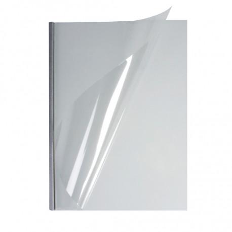 Мягкие обожки А4 O.EasyCOVER прозрачные 13,0 мм, серебряные