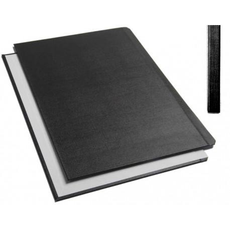 "Обложки металбинд твердые А4 304х212 мм, ""ткань"" черные SLIM (10 пар)"