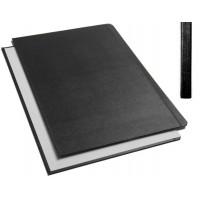 "Обложки металбинд твердые А4 304х212 мм, ""ткань"" черные (10 пар)"