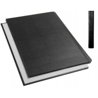 "Обложки металбинд твердые А5 217х151 мм, ""ткань"" черные (10 пар)"