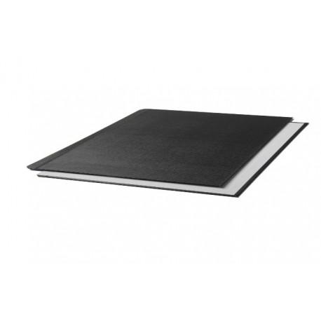 "Oбложки металбинд твердые альбомные 304х423 мм, ""ткань"" черные (10 пар)"