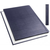 "Обложки металбинд твердые А4 304х212 мм, ""ткань"" синие (10 пар)"