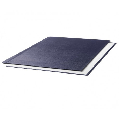"""Oбложки металбинд твердые альбомные 217х300 мм, """"ткань"""" синие (10 пар)"""