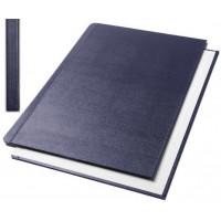 "Обложки металбинд твердые А4 304х212 мм, ""ткань"" cиние  SLIM (10 пар)"