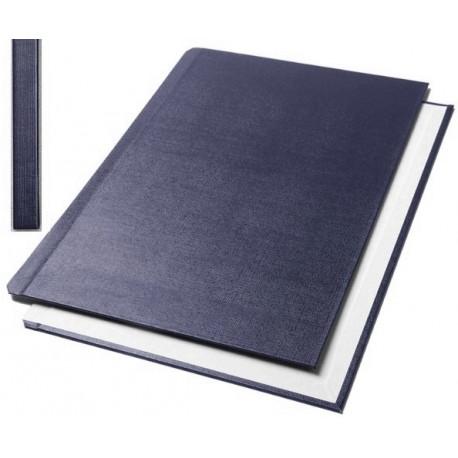 "Обложки металбинд твердые А5 217х151 мм, ""ткань"" синие (10 пар)"