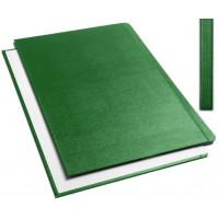 """Обложки металбинд твердые А4 304х212 мм, """"ткань"""" зеленые SLIM (10 пар)"""