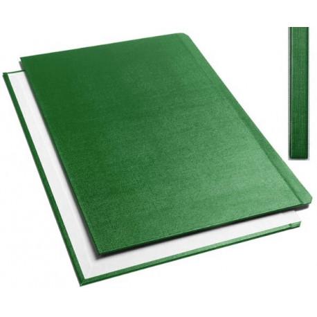 """Обложки металбинд твердые А4 304х212 мм, """"ткань"""" зеленые (10 пар)"""