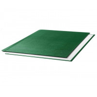 """Oбложки металбинд твердые альбомные 304х423 мм, """"ткань"""" зеленые (10 пар)"""