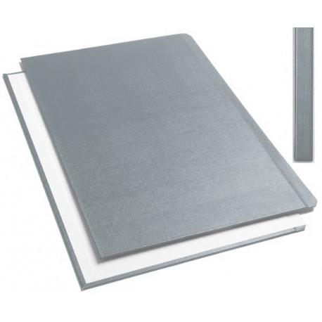 """Обложки металбинд твердые А4 304х212 мм, """"ткань"""" серые SLIM (10 пар)"""