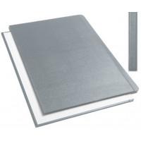 """Обложки металбинд твердые А5 217х151 мм, """"ткань"""" серые (10 пар)"""