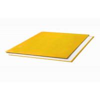 "Oбложки металбинд твердые альбомные 217х300 мм, ""ткань"" желтые (10 пар)"