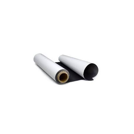 Магнитный винил в рулонах 0,62х30 м, толщина 0,4 мм, с белым матовым ПВХ покрытием