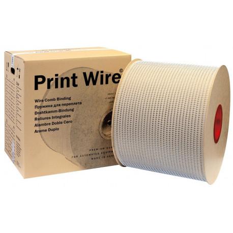 1/4 белая металлическая пружина в бобине 3:1 (6,4 мм), 87000 петель PrintWire