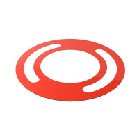 Курсор для календаря Рейл круглый на блок 340-380 мм, красные 100 шт.)