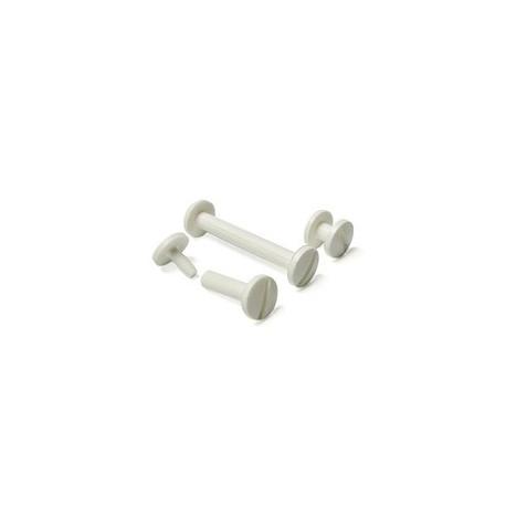 Болты полиграфические пластиковые 20,0 мм, белые (100 шт.)