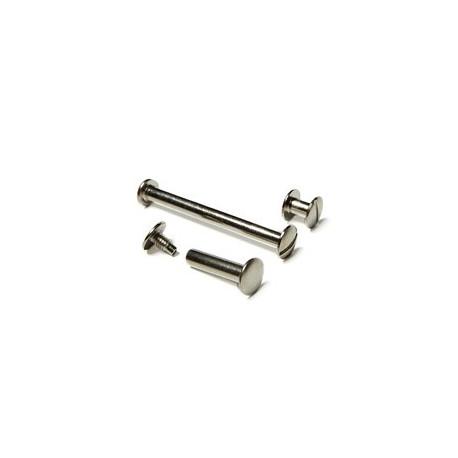 Болты полиграфические металлические 30,0 мм, серебро (100 шт.)