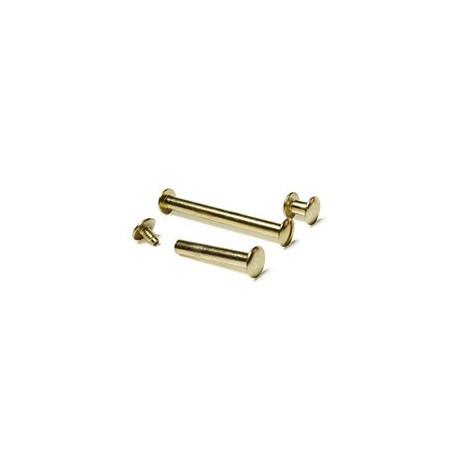 Болты полиграфические металлические 25,0 мм, золото (100 шт.)