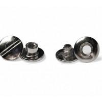 Болты полиграфические металлические 3,5 мм, серебро (100 шт.)