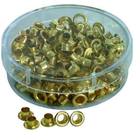 Кольца пикколо диаметром 4,8 мм для ручных пассатижей, золото (250 шт.)