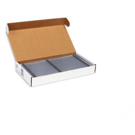 Пружины металлические переплетные шаг 3:1 1/4 (6,4 мм), 34 кр, черный (100шт)К