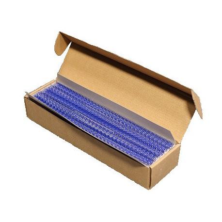 Пружины металлические переплетные шаг 3:1 1/4 (6,4 мм), 34 кр, синий (100шт)К