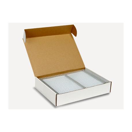 Пружины металлические переплетные шаг 3:1 3/8 (9,5 мм), 34 кр, белый (100 шт)К