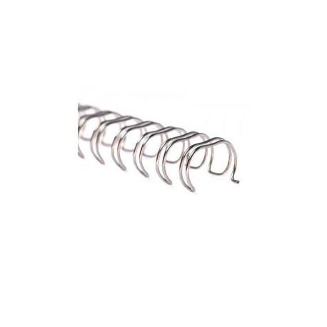 Пружины металлические переплетные шаг 3:1 7/16 (11,1мм), 34 кр, серебро (100шт)К
