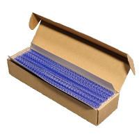 Пружины металлические переплетные шаг 3:1 1/2 (12,7 мм), 34 кр, синий (50шт)
