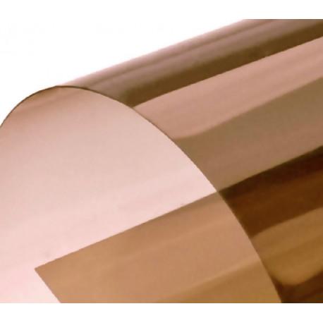 Обложка для переплета пластик прозрачный А4, коричневый 180 мкн (100 шт)