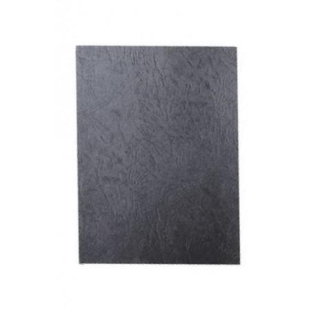 """Обложка для переплета картон """"кожа"""" А4, черный (100 шт)"""