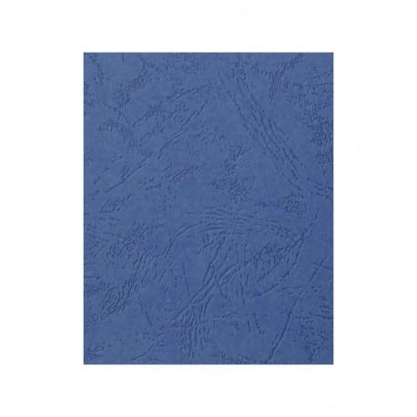"""Обложка для переплета картон """"кожа"""" А3, синий (50 шт)"""