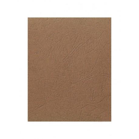 """Обложка для переплета картон """"кожа"""" А4, коричневый (100 шт)"""