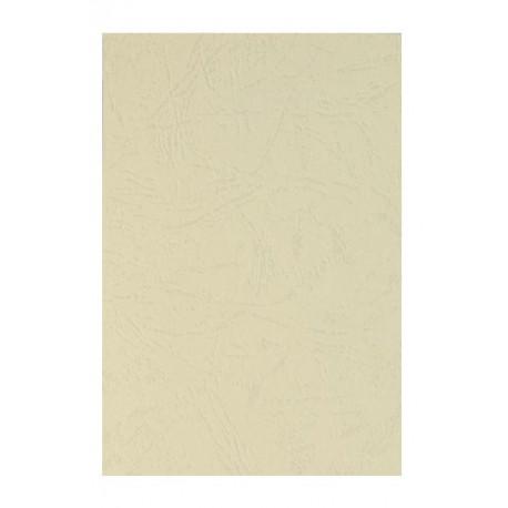 """Обложка для переплета картон """"кожа"""" А4, слоновая кость (100 шт)"""