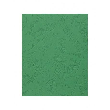 """Обложка для переплета картон """"кожа"""" А4, зеленый (100 шт)"""