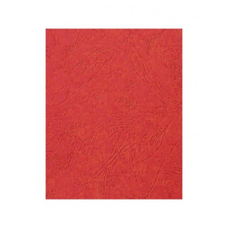 """Обложка для переплета картон """"кожа"""" А3, красный (50 шт)"""