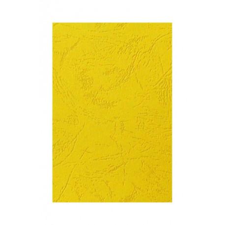 """Обложка для переплета картон """"кожа"""" А4, желтый (100 шт)"""
