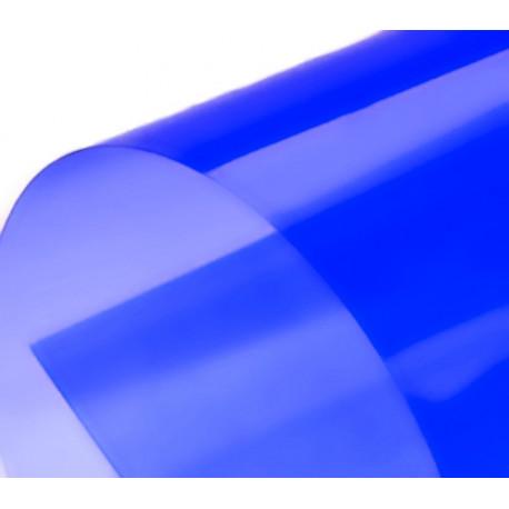 Обложка для переплета пластик прозрачный А3, синий (100 шт)