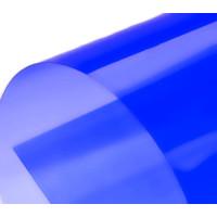 Обложка для переплета пластик прозрачный А4, синий 180 мкн (100 шт)