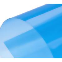 Обложка для переплета пластик прозрачный А4, голубой 150 мкн (100 шт)