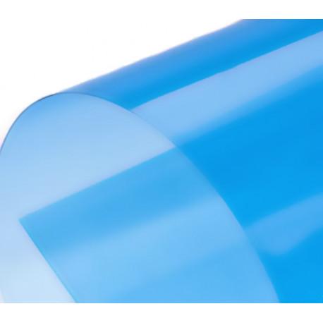 Обложка для переплета пластик прозрачный А4, голубой 180 мкн (100 шт)