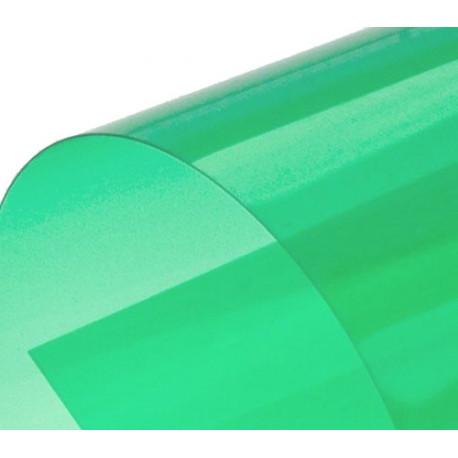 Обложка для переплета пластик прозрачный А3, зеленый (100 шт)