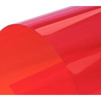 Обложка для переплета пластик прозрачный А3, красный (100 шт)
