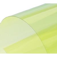 Обложка для переплета пластик прозрачный А4, желтый 150 мкн (100 шт)