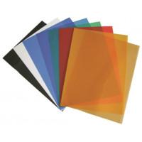 Обложка для переплета пластик прозрачный А4, матовый синий 400 мкн (50 шт)