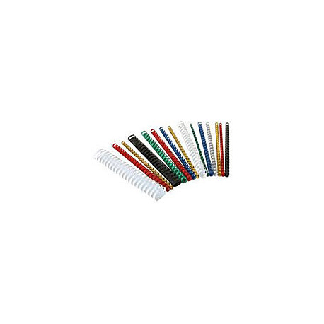 Пружины пластиковые для переплета 10 мм, белые (100 шт.)