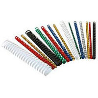 Пружины пластиковые для переплета 16 мм, красные (100 шт.)