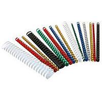 Пружины пластиковые для переплета 25 мм, черные (50 шт.)