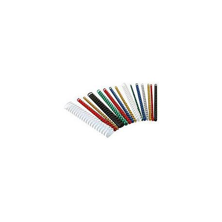 Пружины пластиковые для переплета 6 мм, желтые (100 шт.)